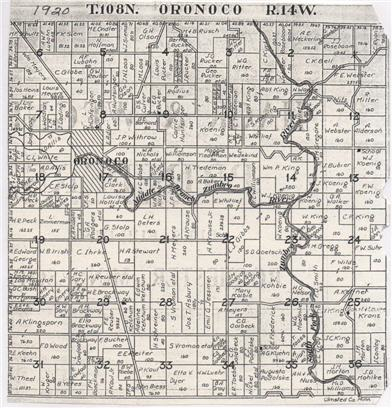 Map of Oronoco 1920